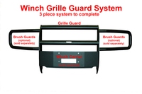 Image 33619B Winch Grille Guard - Black