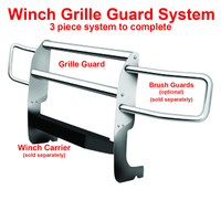 Image 33642 Winch Grille Guard - Chrome