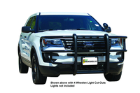 Image 39021S3 - Full Wrap Push Bumper - Accepts 3 nForce Lights by SoundOff - Black