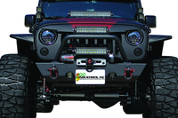 Image 94101 - Jeep Front Bumper - Winch Ready - Black