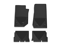 Image W321-W322 -Floor Mat Set - All Weather Floor Mats - Black